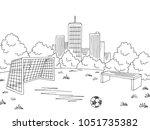 street sport football soccer... | Shutterstock .eps vector #1051735382
