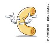 wink macaroni character cartoon ... | Shutterstock .eps vector #1051736582