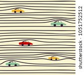seamless pattern with cars | Shutterstock .eps vector #1051752512