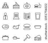 flat vector icon set   cake... | Shutterstock .eps vector #1051756022