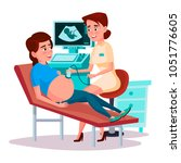 vector cartoon ultrasound...   Shutterstock .eps vector #1051776605