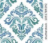 classic seamless pattern.... | Shutterstock . vector #1051789292