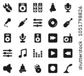 flat vector icon set   bell... | Shutterstock .eps vector #1051798826