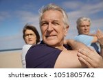 portrait of senior people doing ... | Shutterstock . vector #1051805762