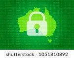 map of australia. vector... | Shutterstock .eps vector #1051810892