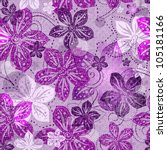 Seamless Floral Gray Pattern...
