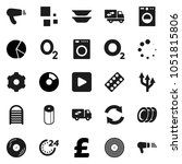 flat vector icon set  ... | Shutterstock .eps vector #1051815806