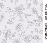 floral seamless pattern with... | Shutterstock .eps vector #1051815932