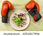 nutrition for sports  healthy... | Shutterstock . vector #1051817906