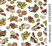 seamless pattern made from... | Shutterstock .eps vector #1051820495