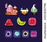 vector set of assets for mobile ...