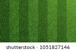 detailed green soccer field... | Shutterstock . vector #1051827146