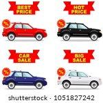 car showroom. big sale. hot... | Shutterstock .eps vector #1051827242