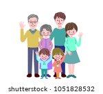 illustration of family group | Shutterstock .eps vector #1051828532