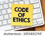 code of ethics | Shutterstock . vector #1051831745