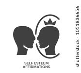 self esteem affirmations glyph...   Shutterstock .eps vector #1051836656