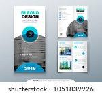 bi fold brochure flyer design.... | Shutterstock .eps vector #1051839926
