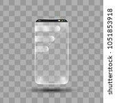 transparent mobile phone blank... | Shutterstock .eps vector #1051853918