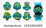 a colorful collection of logos  ... | Shutterstock .eps vector #1051856405