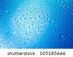Blue Water Drops Background