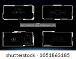 hud hi tech futuristic white... | Shutterstock .eps vector #1051863185