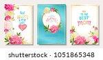 happy mother's day. set of... | Shutterstock .eps vector #1051865348
