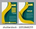 abstract flyer template....   Shutterstock .eps vector #1051868255