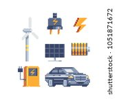 electricity energy symbols... | Shutterstock .eps vector #1051871672