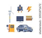electricity energy symbols... | Shutterstock .eps vector #1051871672