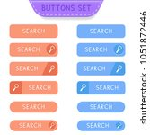 search buttons set. collection... | Shutterstock .eps vector #1051872446