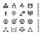 human resources icon set | Shutterstock .eps vector #1051878302