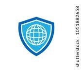 world shield logo icon design | Shutterstock .eps vector #1051882658