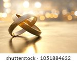 rings lay on table  3d... | Shutterstock . vector #1051884632
