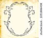 retro baroque decorations... | Shutterstock .eps vector #1051886438