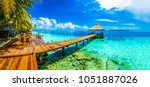 maldives beach resort panoramic ... | Shutterstock . vector #1051887026