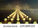 plane in landing approach | Shutterstock . vector #1051889105