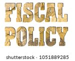 fiscal policy  golden coins... | Shutterstock . vector #1051889285