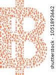 big thai baht symbol composed...   Shutterstock .eps vector #1051893662