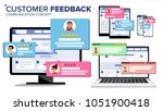 customer review page on... | Shutterstock .eps vector #1051900418
