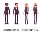 secret agent man and woman ...   Shutterstock .eps vector #1051904312
