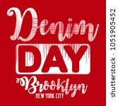 denim day tee shirt design  ... | Shutterstock .eps vector #1051905452