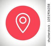 map pointer vector icon ... | Shutterstock .eps vector #1051906358