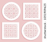 round and square line patterns  ... | Shutterstock .eps vector #1051909625