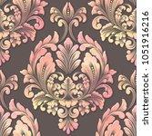 vector volumetric damask... | Shutterstock .eps vector #1051916216