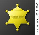 wild west sheriff metal gold... | Shutterstock .eps vector #1051918868