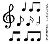 the set of musical notes ... | Shutterstock .eps vector #1051928402