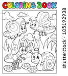 Coloring Book Bugs Theme Image...