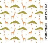 giraffe pattern print   Shutterstock .eps vector #1051931165