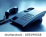 modern  call phone  with cord... | Shutterstock . vector #105194318