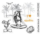 hand drawn sketch illustration... | Shutterstock .eps vector #1051943282